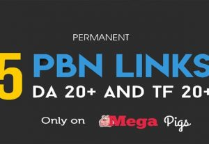 PERMANENT 5 PBN backlinks, DA 20 TF 20 private blog network