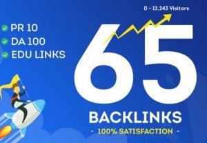 Booster Website Rank – 65 Highest Quality Backlinks
