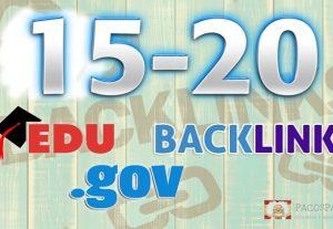 We Manually Build 15-20 Edu-.Gov Backlinks