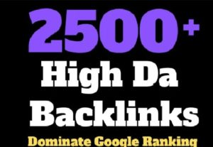 I will make 2500 high authority backlinks to boost website ranking