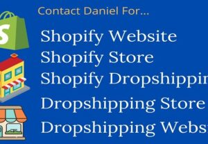 I will Create Shopify Website, Dropshipping Store